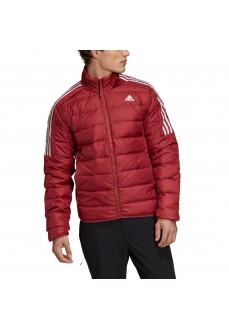 Adidas Men's Essentials Coat Maroon/White GH4595 | Coats for Men | scorer.es