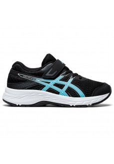 Asics Kids' Contend Trainers 6 Black/Blue 1014A087-003 | Running shoes | scorer.es