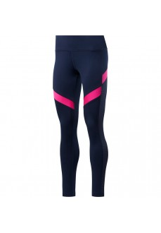 Reebok Women's Workout Ready Tights Navy Blue/Pink FU2349