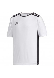 Adidas Men's Entrada 18 T-Shirt White/Black CF1044 | Football clothing | scorer.es