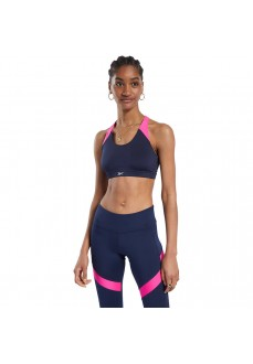 Reebok Women's Workout Sports Bra FU2280 Navy Blue/Pink