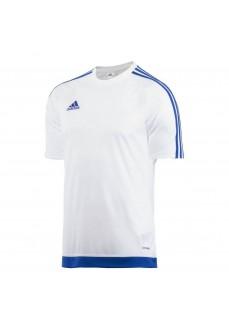 Camiseta Adidas Climalite Estro 15 Blanco/Azul