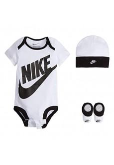 Set Infantil Nike BodySuir+Hat+Bootie Blanco/Negro LN0073-001
