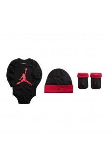 Kids' Set Nike BodySuit+Hat+Bootie Red/Black MJ0263-023 | Conjuntos | scorer.es