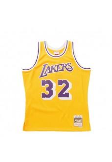 Mitchell & Ness Los Angeles Lakers Men's T-Shirt Yellow SMJYGS18175-LALLTGD84EJH