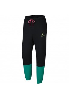 Nike Men´s Pants Jumpman Air Fleece Negro/Verde CK6694-011 | Long trousers | scorer.es