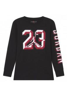 Camiseta Manga Larga Niño/a Jordan 23 Chiseled Negra 95A251-023 | scorer.es