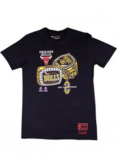 Mitchel & Ness T-Shirt Chicago Bulls Black BMTR7CBUZNR-CBUBLCK | Basketball clothing | scorer.es