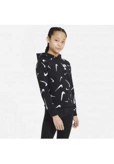 Nike Kid´s Sweatshirt Aop Hoodie Black DC3429-010 | Kids' Sweatshirts | scorer.es