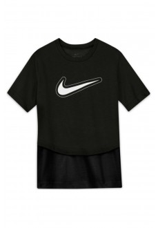 Nike Kid´s T-Shirt Air FT Crop Hoodie Black DB3723-010 | Kids' T-Shirts | scorer.es