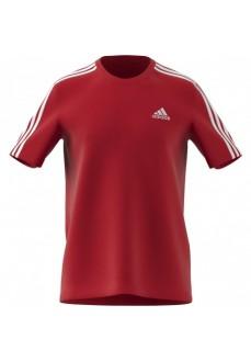 Camiseta Hombre Adidas Essentials 3 Tiras Rojo GL3736 | scorer.es
