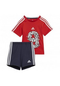 Conjunto Infatil Adidas I Lil 3S Rojo/Marino GM8967