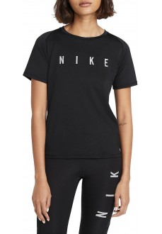 Nike Woman´s T-Shirt Miler Run Division Black DC5236-010 | Running T-Shirts | scorer.es