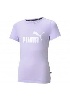 Camiseta Niño/a Puma Ess Logo Tee Morado 587029-16   scorer.es