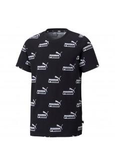 Camiseta Niño/a Puma Amplified AOP Negro 585999-01   scorer.es
