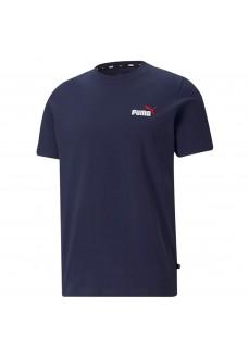 Puma Men´s T-Shirt Ess+ Embroidery Logo Navy 587184-06 | Men's T-Shirts | scorer.es