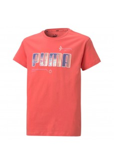 Camiseta Niño/a Puma Alpha Tee G Sun Rojo 586170-42   scorer.es