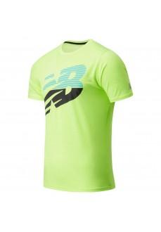 Camiseta Hombre New Balance Accelerate Verde MT03204 BIO | scorer.es