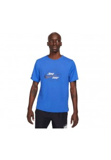 Camiseta Hombre Nike Dri-Fit Miler Wild Run Azul DA0216-480 | scorer.es