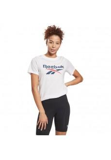 Reebok Women's T-Shirt Identity Logo White GI6706 | Women's T-Shirts | scorer.es