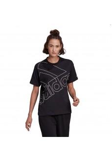 Adidas Women´s T-Shirt Giant Logo Black GL0548 | Women's T-Shirts | scorer.es