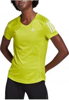 Camiseta Mujer Adidas Own The Run Amarillo GJ9983 | scorer.es