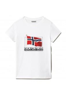 Camiseta Niño/a Napapijri Seji SS Blanco NP0A4F1S0021   scorer.es