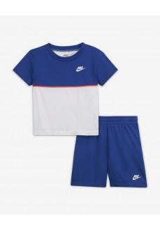Conjunto Infantil Nike S/S Tee Blanco/Azul 86H548-U89 | scorer.es