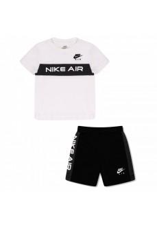 Conjunto Infantil Nike S/S Tee Blanco/Negro 66H647-K25 | scorer.es