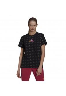 Adidas Women's T-Shirt Essentials Gradient Logo Black GM5558 | Women's T-Shirts | scorer.es