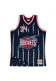 Mitchell & Ness Men's T-Shirt Houston Rockets Hakeem Olajuwon SMJYGS18173-HRONAVY96HOL