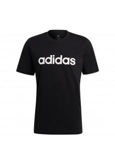 Camiseta Hombre Adidas Essentials Embroidered Linear Logo Negra GL0057 | scorer.es