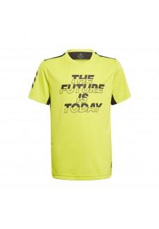 Camiseta Niño/a Adidas XFG Aeroready Amarillo GM8460 | scorer.es