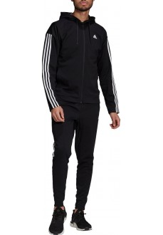 Adidas Men's Tracksuit Sportswear Ribbed Insert Black GM3827
