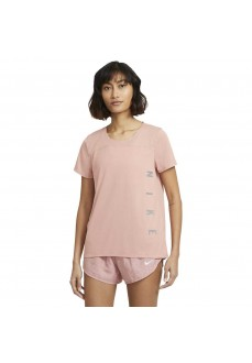 Nike Women's T-Shirt Run Division Miller Pink DA1246-685 | Running T-Shirts | scorer.es