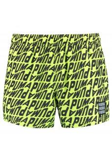 Puma Men's Swimwear Wave AOP Yellow/Black 100001266-002 | Men's Swimsuits | scorer.es
