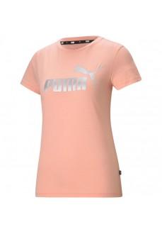 Puma Women's T-shirt Essential+Metallic Logo Pink 586890-26   Women's T-Shirts   scorer.es
