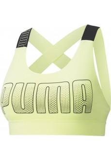 Puma Women's Sports Bra Mid Impact Feel It Yellow 520299-39 | Sports bra | scorer.es