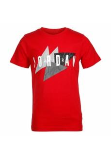 Nike Kids' T-shirt Jordan Graphic Geo Red 95A562-R78 | Kids' T-Shirts | scorer.es