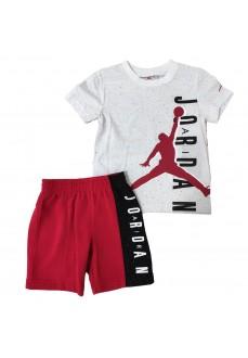 Conjunto Niño/a Nike Jordan Jumpman Blanco/Rojo 85A602-R78 | scorer.es