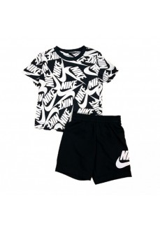 Conjunto Niño/a Nike Toos AOP Negro/Blanco 86H749-023 | scorer.es
