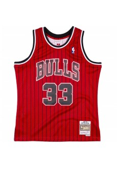 Maillot Mitchell & Ness Chicago Bulls Scottie Pippen Rouge Homme SMJYAC19152-CBUSCAR95SPI