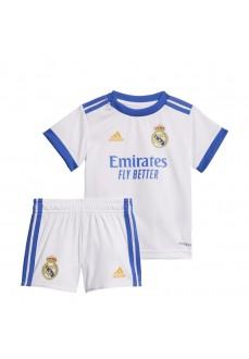 Adidas Real Madrid Kids' Home Kit 2021/2022 White GR4016   Outfits   scorer.es