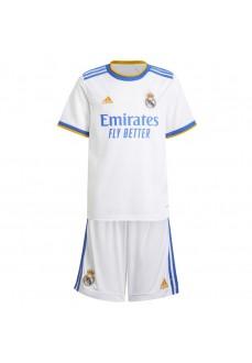 Adidas Real Madrid Kids' Home Kit 2021/2022 White GR4015   Outfits   scorer.es