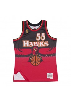 Maillot Mitchell & Ness Ahawks-Di Mutombo Rouge Homme SMJTGS18138-AHASCAR96DMO