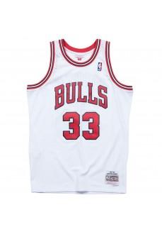 Maillot Mitchell & Ness Chicago Bulls-Scottie Pippen Blanc Homme SMJYAC18054-CBUWHIT97SPI