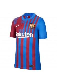 Nike FC Barcelona Kids' Home Shirt 2021/2022 Blue/Maroon CV8222-42   Football clothing   scorer.es
