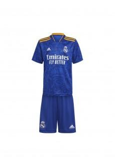 Adidas Real Madrid Kids' Away Kit 2021/2022 Blue GR3996   Football clothing   scorer.es