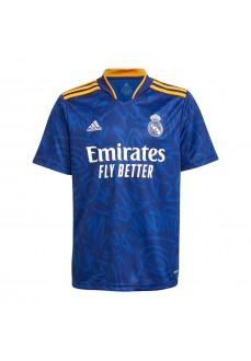 Adidas Real Madrid Away Kids' Shirt 2021/2022 Blue GR3985   Football clothing   scorer.es