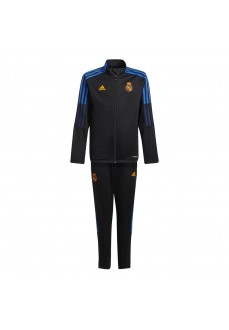 Adidas Real Madrid 2021/2022 Kids' Tracksuit Black GR4336 | Football clothing | scorer.es